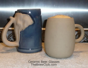 ceramic beer glasses