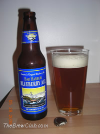 Blueberry Beer - Bar Harbor Blueberry Ale from Atlantic Brewing Company