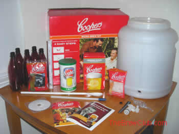 Coopers Microbrew Kit Contents