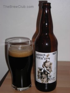 Manchester Brewing Emperor Nortons Cinnemon Stout