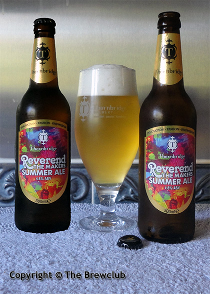 Thornbridge - Reverend and the Makers Summer Ale - from The Brewclub